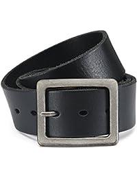 e0fa3d39cd4a Eg-Fashion Herren Jeansgürtel 100% Büffelleder-Gürtel in 4,5 cm Breite