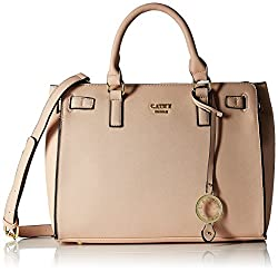 Cathy London Womens Handbag, Material- Synthethic Leather, Colour- Beige