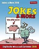 Jokes & More - Kalender 2018: Englische Witze und Cartoons