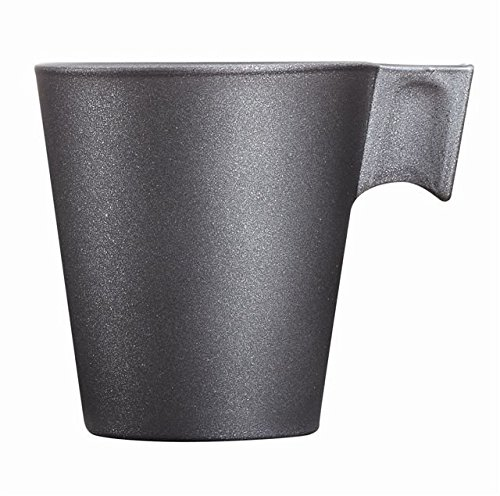 Luminarc 8012324.0 Tasse Verre Loft Stone Noir 22 ML 10,0 x 10,0 x 8,55 cm Lot de 6
