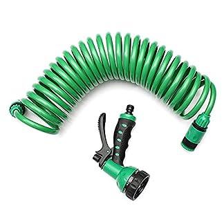 51PKjBAercL. SS324  - KINGDUO Manguera Extensible Portable Flexible del Agua del jardín de 25FT con el inyector