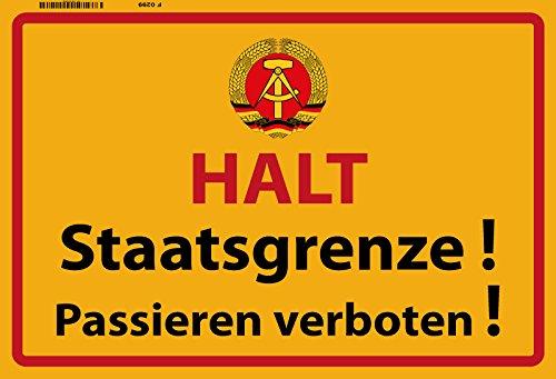 DDR Halt Staatsgrenze! Warnschild blechschild ostalgie