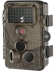 "Lixada Jeu et Trail Caméra 12MP Full HD 1080P Accéléré 65ft 120 Degrés Grand Angle Infrarouge IR Night Vision 2.4"" LCD Scoutisme Surveillance Support de Carte WiFi Caméra"