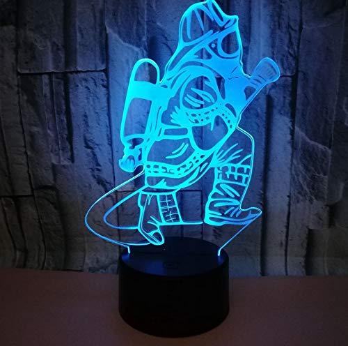 Usb 7 farbe Touch Control 3d Led Nachtlicht Geschenk Atmosphäre Tischlampe Schöne cartoon kinderspielzeug - Beste Zeiten Aller Halloween-cartoons
