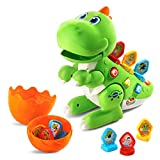 VTech Learn & Dance Dino Baby Interactive Toy, Educational Baby Musical Toy with Shapes Sorting, Sound Toy with Different Music Styles for Babies & Toddlers From 2 Years Old, Green