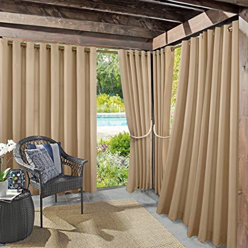 Sun Zero UV-Protectant Vorhang Panel, Leinen, beige, 132,1x 274,3cm (Leinen Vorhang-panel-beige)
