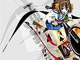 T-Shirt MA13 schönes T-Shirt Manga / glückliches Mädchen mit Zyklus weiß XXL