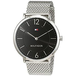 Reloj analógico para hombre Tommy Hilfiger 1710355, mecanismo de cuarzo, diseño clásico, correa de acero inoxidable.