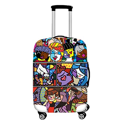 YiiJee Elastische Kofferschutzhülle Kofferhülle Luggage Cover Gepäck Cover Reisekoffer Hülle Als Bild4 S