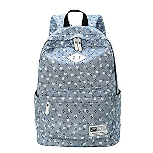 51PKlW29fZL. SS300  - Moollyfox Niña Dulce floral del Estilo fresco Linda la capacidad grande Mochila bolso de escuela Para Adolecente…