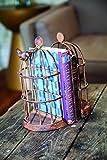 Iron Bird Cage Bookend S/2 5.25X3.25X9.75