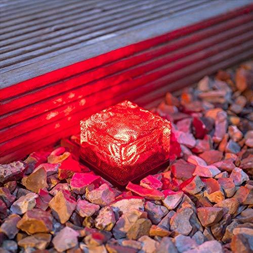 Wlight (4pcs) Outdoor Solar EIS Ziegel Licht Garten Garten dekoratives Licht Solar Rasen U-Bahn Licht Square Ziegel Licht,4sevencoloredlights -