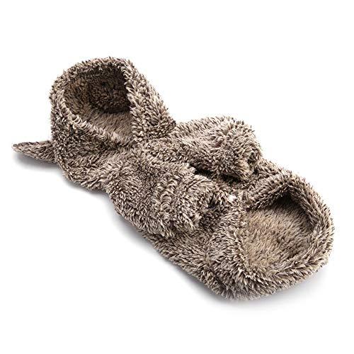 ung Mantel, Winddicht weich niedlich Faultier Bär Kleidung, Wintermantel warme Outfit Overalls Coat Puppy Kleidung für Welpen kleine und mittlere Haustiere (2#) ()