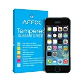 Affix Premium Tempered Glass for Apple iPhone 5 / Apple iPhone 5S /Apple iPhone SE with installation Kit