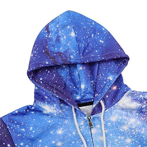 BFUSTYLE Unisex Galaxy Nebula Zip Up Hoodie All Over Print Jacket Sweatshirt 2016 style-Galaxy 4