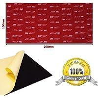 Negro doble cara 3M VHB acrílico almohadilla cuadrada–100mm x 200mm x 1mm de grosor–Tamaño grande resistente a la intemperie VHB Heavy Duty cinta–Modelo: 5952