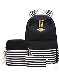 Backpack Mochilas Escolares Mujer Mochila Escolar Lona Bolsa Vendimia Casual Colegio Para Chicas Backpack 3Pcs