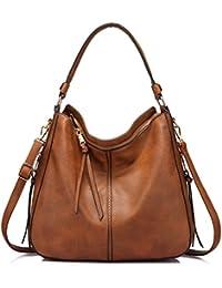 Realer Handtaschen Damen Lederimitat Umhängetasche Designer Taschen Hobo Taschen groß Mit Quasten