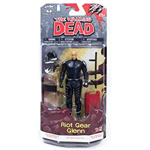 "The Walking Dead Comic Book Series 2 5"" Figure Riot Gear Glenn 5"