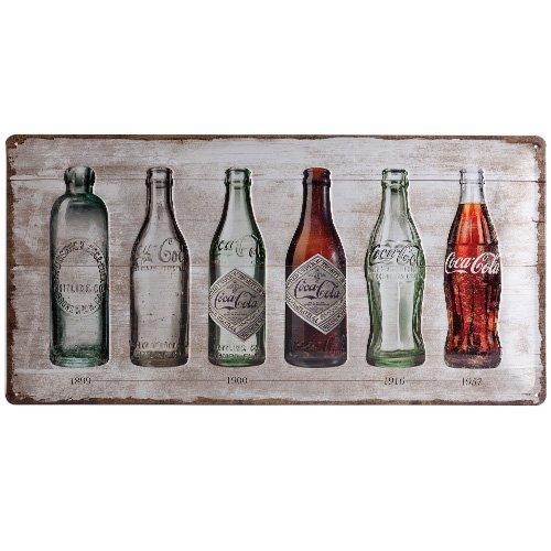Nostalgic-Art 27021Coca-Cola Bottle Timeline, Cartel de chapa 25x