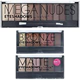 Technic Mega Nudes, 6 Matte & 6 Bronze Eye Shadow Set