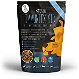 Pets Pro Immunity Aid 500g Immune System Probiotic Supplement for Dogs with Omega 3 for Dog Coats and Curcumin- Up to 100 Days Supply, in Pellets not