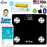 #4: Dr Trust (USA) Smart Connect Body Composition Monitor Fat Analyzer & Weighing Scale With Digital Thermometer and measuring tape