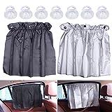 Set di 2 pezzi tendine parasole, EFORCAR regolabile 52 centimetri x 75 centimetri auto flessibile tende da sole tende UV a prova di finestra laterale cortina di tenda parasole con ventose