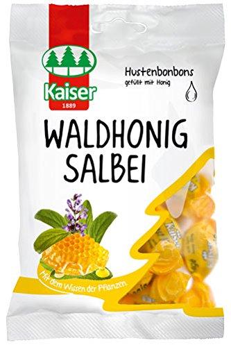 Kaiser Waldhonig-Salbei, Hustenbonbons gefüllt mit Honig - 90gr - 6x