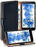 MoEx Cover a Libretto Compatibile con LG Google Nexus 5 | Fessura Carta + Soldi, Supporto, Nero