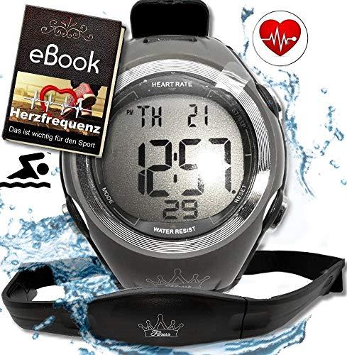 Heartbeat Herzfrequenz-messung Sport Puls-Uhr mit Brustgurt & Fitnesstudios ANT Trainingsbereich, Kalorienverbrauch Fettverbrennung Sportuhr Wasserdicht (Schwimmen) (Plus)