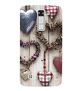 Vizagbeats heart shapes Back Case Cover for LG K10