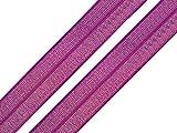 2 Meter elastisches Einfassband 16 mm lila