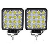 Faro da lavoro a LED, 2 X 48W LED lavoro fuori strada luce lampade riflettore proiettore per Off Road Moto 4WD SUV ATV UTV Camion