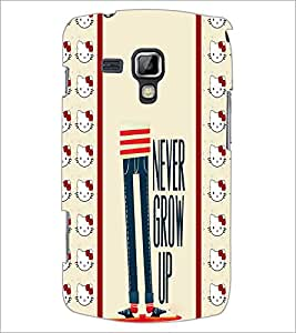 Printdhaba Quote D-2785 Back Case Cover For Samsung Galaxy S Duos S7562
