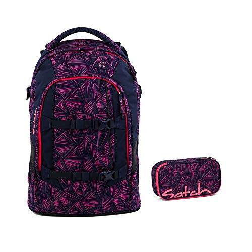 Satch Zaino da scuola -Set di 2pezzi, rosa (Pink Bermuda) 9K8