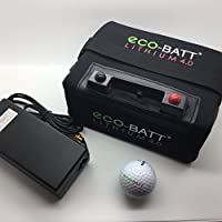 ECO-BATT Mini BATERIA DE Litio para CARRITOS DE Golf 12V 18/27 Hoyos Cargador DE Regalo