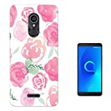 Cellbell LTD 001006 - Cool Fun Cute Love Pink Shabby Chic Flowers Floral Nature Design Alcatel 3C 6.0 Fashion Trend Sili