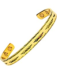 MPS® NEPHTHYS Very Light and Elegant Gold Plated Ladies Magnetic Bangle with Six magnets