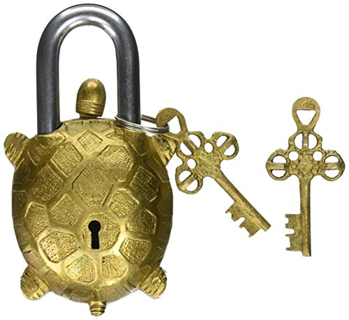 Brass Door Lock in Turtle Shape Antiques Inspired and Colletibles