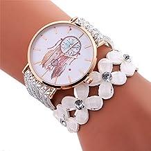 Coconano Reloj Pulsera, Moda Mujer Carillón de Viento Patrón Cuarzo Reloj Bobina Pulsera