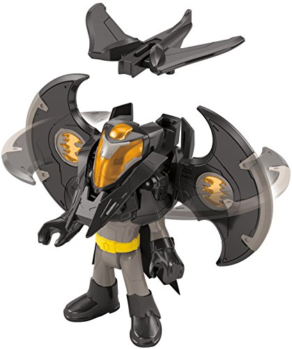 Mattel DFX64 - Fisher-Price - Imaginext - DC Battle Shifterz - Batman Figur & Rüstung [UK Import] (Batman Rüstung)