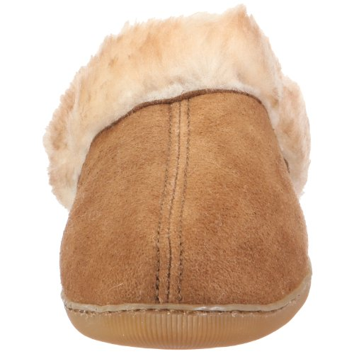 Minnetonka 3461 Sheepskin Mule, Damen Hausschuhe Beige (Golden Tan)
