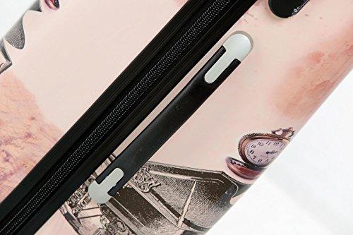 Reise Koffer Trolley mit Polycarbonat ABS Hartschale und Motiv BB (4: 115 Liter - Gr. XL, Eiffelturm) - 4