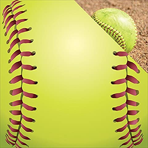 Softball Double-Sided Cardstock 12-inch x 12-inch Let'S Play