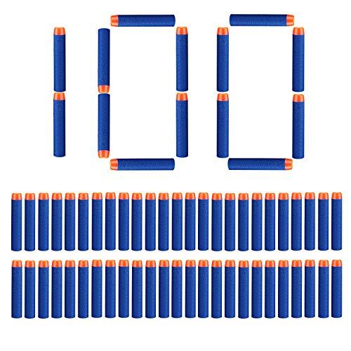 StillCool Nerf Darts, 100 Stück 7.2cm Foam Darts Pfeile Nachfüllpack Darts für Nerf N-Strike Elite Series Blasters Spielzeugpistole (Darkblue, 100) -