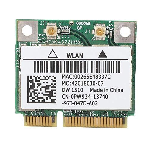 Pokerty Drahtlose Netzwerkkarte, BCM94322HM8L DW1510 Dualband 300 Mbit/s Mini PCI-E Drahtlose Netzwerkkarte für Dell E4200 E5500