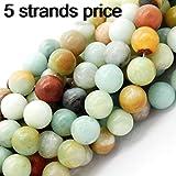 gemstone perle per fare gioielli, venduto per busta 5 fili dentro (10mm, amazzonite) …