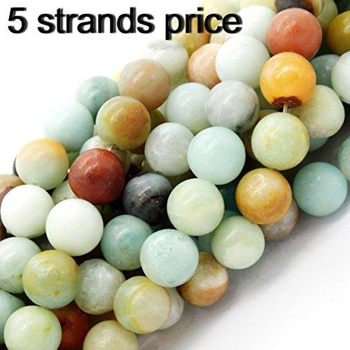 Malahill gemstone perle per fare gioielli, venduto per busta 5 fili dentro (10mm, amazzonite) …