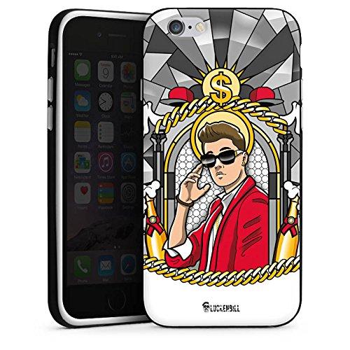 Apple iPhone 5c Housse Outdoor Étui militaire Coque Justin Bieber Dollar Champagne Housse en silicone noir / blanc
